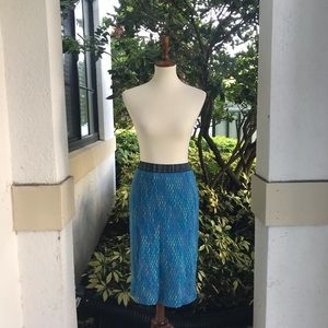 Vintage Missoni Knit Blue Career pencil Skirt